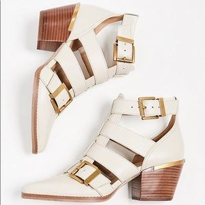 Michael Kors Griffin Strappy Ankle Booties Cream 9